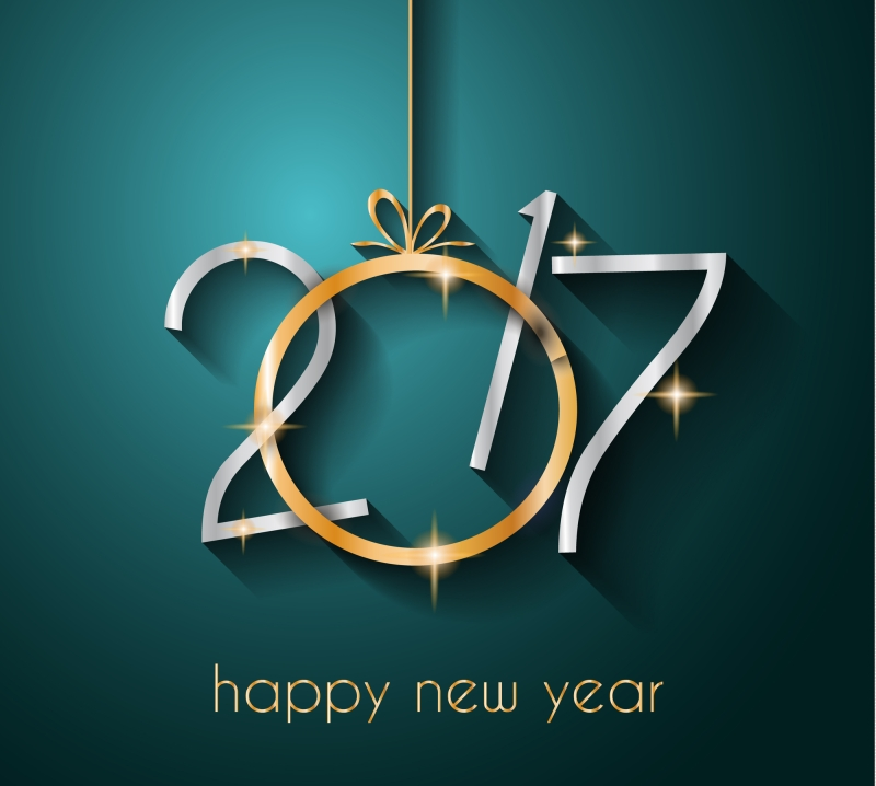 2017 Happy New Year Background for your Seasonal Flyers